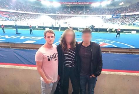 Niklas Gottmann während den Anschlägen am 13.11.2015 im Stade de France